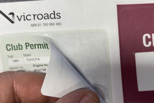 Club Permit Log book sticker