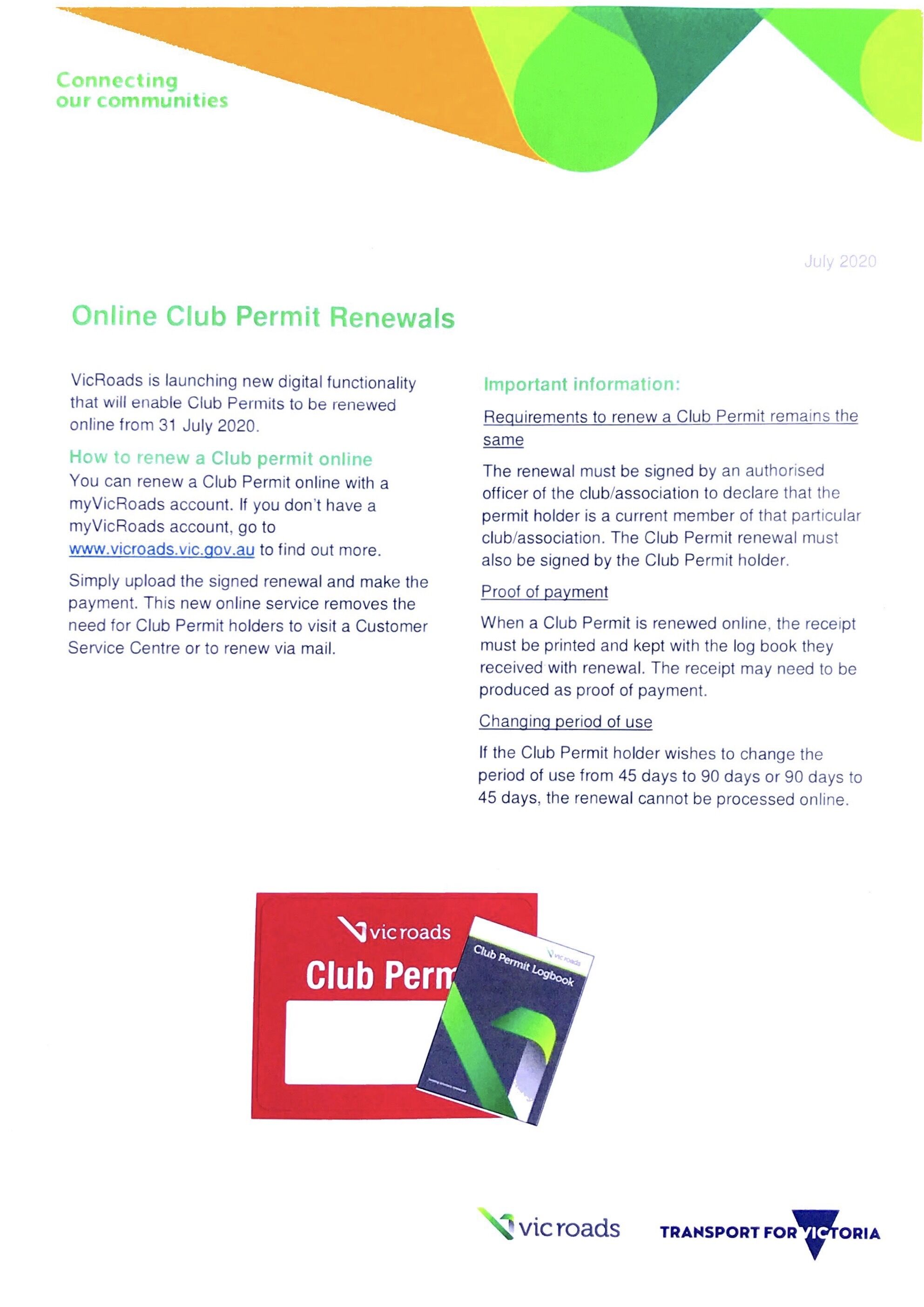 Online Club Permit Renewals